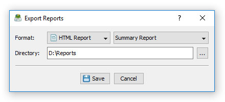 DiskSavvy Batch Reports Dialog
