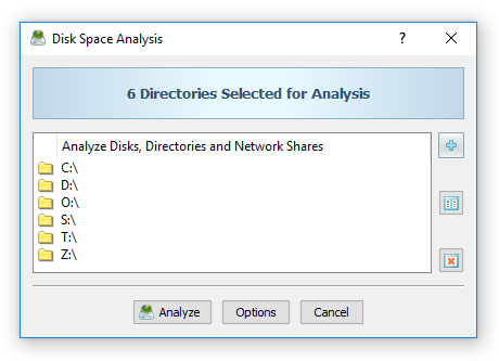 DiskSavvy Disk Space Analysis Operation