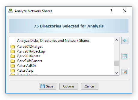 Disk Space Analysis Profile Dialog