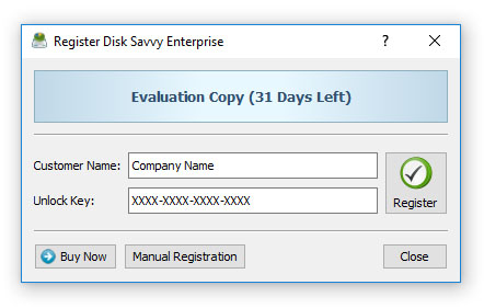 DiskSavvy Server Registration Procedure