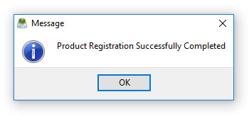 DiskSavvy Server Registration Procedure Completed